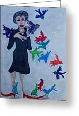 Edith Piaf  The Little Sparrow Greeting Card