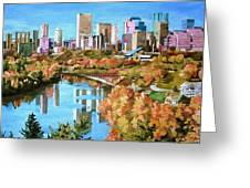 Edmonton In Fall Greeting Card
