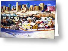 Edmonton In Winter Greeting Card