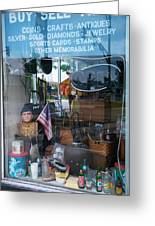 Ed's Collectables Window Display Greeting Card