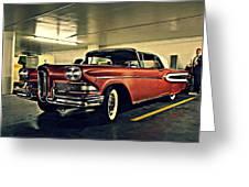 Edsel In Vegas Greeting Card