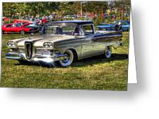 Edsel Ranchero Greeting Card