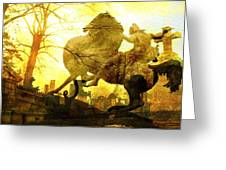 Eerie Horseman Greeting Card