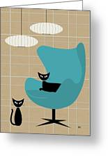 Egg Chair Greeting Card