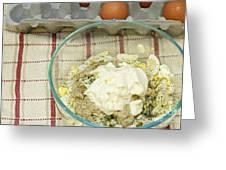 Egg Salad Ingredients Greeting Card