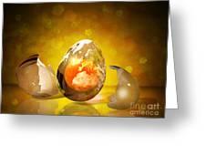 Egg World Greeting Card