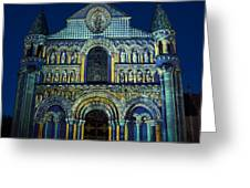 Eglise Notre Dame La Grande Poitiers France Greeting Card
