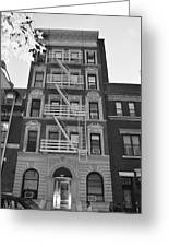 Egress Building In Black And White Greeting Card