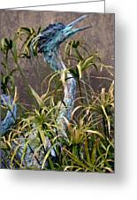 Egret Statue Greeting Card