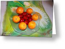 Egss Fruits And Flowers Greeting Card