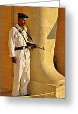 Egypt Tourist Security Greeting Card