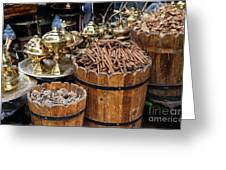 Egyptian Market Stall Greeting Card