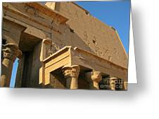 Egyptian Temple Architectural Detail Greeting Card