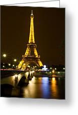 Eiffel At Night Greeting Card