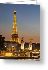 Eiffel At Twilight Greeting Card