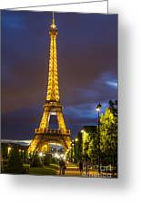 Eiffel Dusk Greeting Card