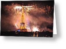 Eiffel Hat Greeting Card