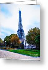 Eiffel In Autumn Greeting Card