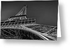 Eiffel In Black And White Greeting Card