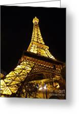 Eiffel Night Greeting Card