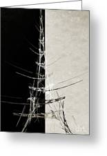 Eiffel Tower Abstract Bw Greeting Card