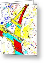 Eiffel Tower Abstract - Paris France Greeting Card
