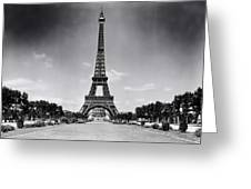 Eiffel Tower And Park 1909 Greeting Card
