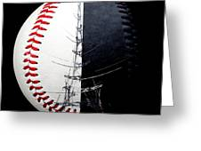 Eiffel Tower Baseball Square Greeting Card