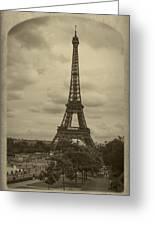 Eiffel Tower Greeting Card by Debra and Dave Vanderlaan