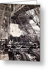 Eiffel Tower Elevator Shop C. 1888 Greeting Card