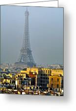 Eiffel Tower From Notre Dame Greeting Card