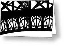 Eiffel Tower Girders Greeting Card