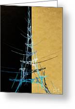 Eiffel Tower In Blue Abstract Greeting Card