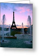 Eiffel Tower In Evening Light Greeting Card