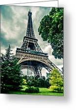Eiffel Tower In Hdr Greeting Card
