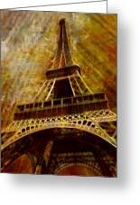 Eiffel Tower Greeting Card by Jack Zulli