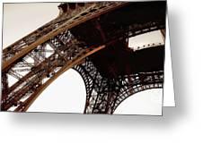 Eiffel Tower Left Leg Greeting Card