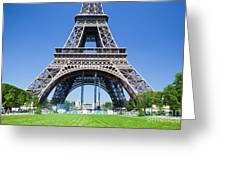 Eiffel Tower Lower Part Paris Greeting Card