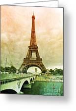 Eiffel Tower Mood Greeting Card