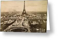 Eiffel Tower, Paris, 1900 Greeting Card