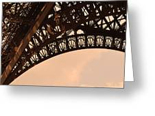 Eiffel Tower Paris France Arc Greeting Card