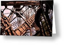 Eiffel Tower Paris France Close Up Greeting Card