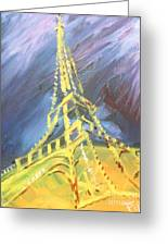 Eiffel Tower Paris Night Greeting Card