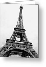 Eiffel Tower Perspective Black And White Photograph By