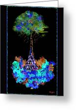 Eiffel Tower Topiary Greeting Card