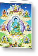 Eight Brothers Of The Medicine Buddha Greeting Card