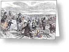 Eight Hours At The Sea-side J Greeting Card