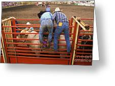 Rodeo Eight Seconds To Payday Greeting Card