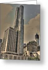 Eight Spruce Street By Gehry Greeting Card