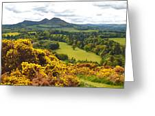 Eildon Hill - Three Peaks And A Valley Greeting Card